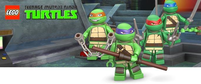 Lego ninja turtles set delle tartarughe ninja for Lago tartarughe