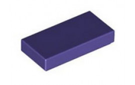 Dark Purple Tile 1 x 2 without Groove