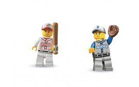 Coppia Minifigures Giocatori di Baseball